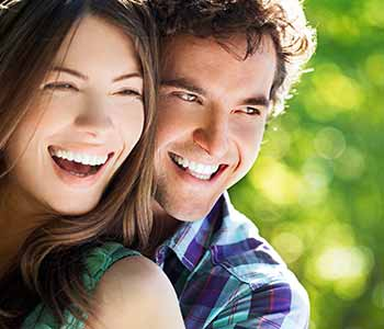 Beautiful smile, Young couple